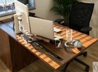 Op maat gemaakt bureau.